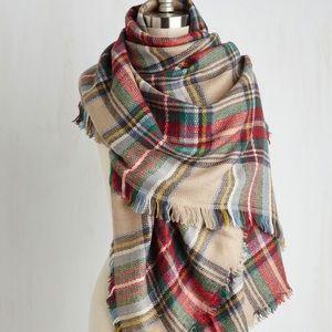 BRAND NEW Plaid Modcloth Blanket Scarf //